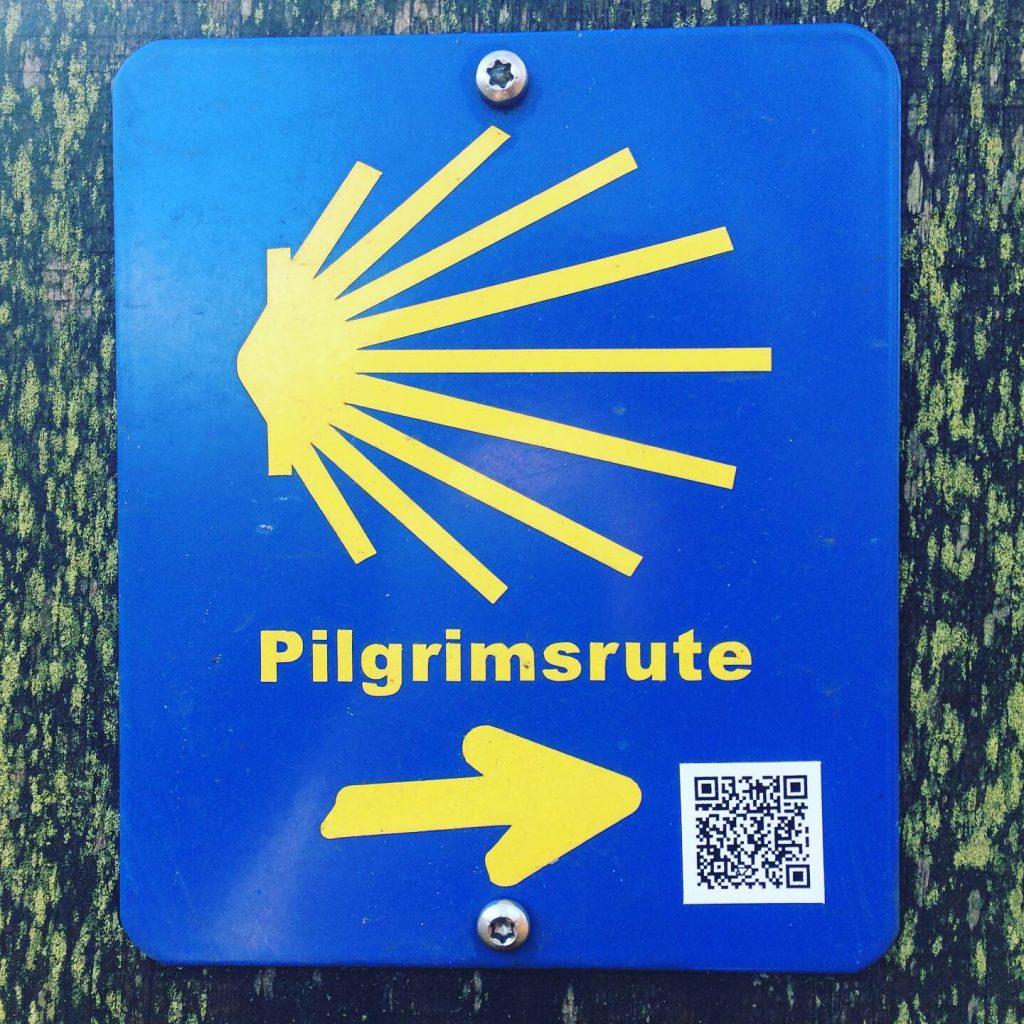 Skiltet for Den Danske Pilgrimsrute