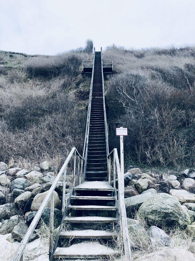 Trappe på Nordkysstien